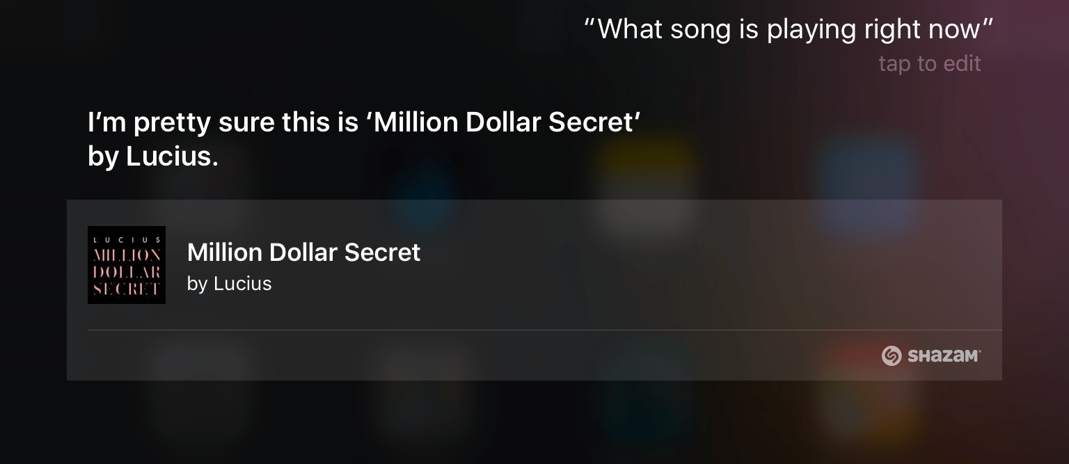 How to see the full history of songs Siri has identified for you