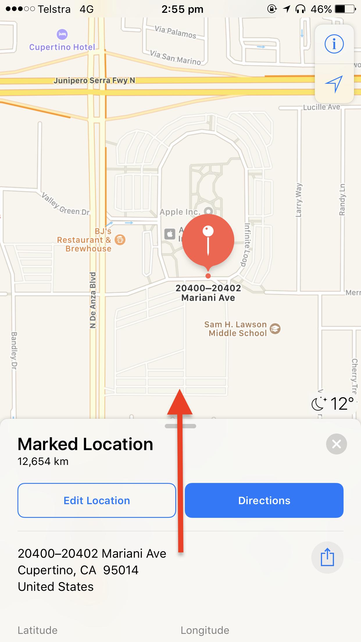 Revelar coordenadas GPS