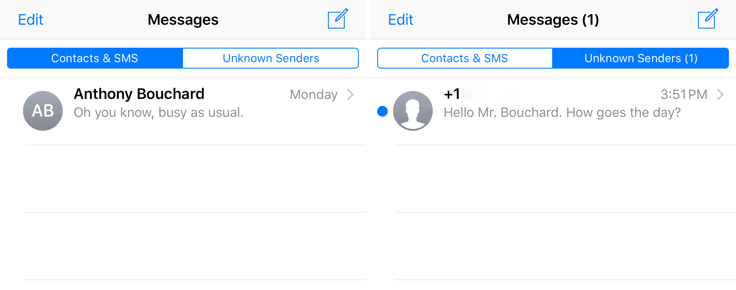 How to turn off iMessage notifications for unknown senders
