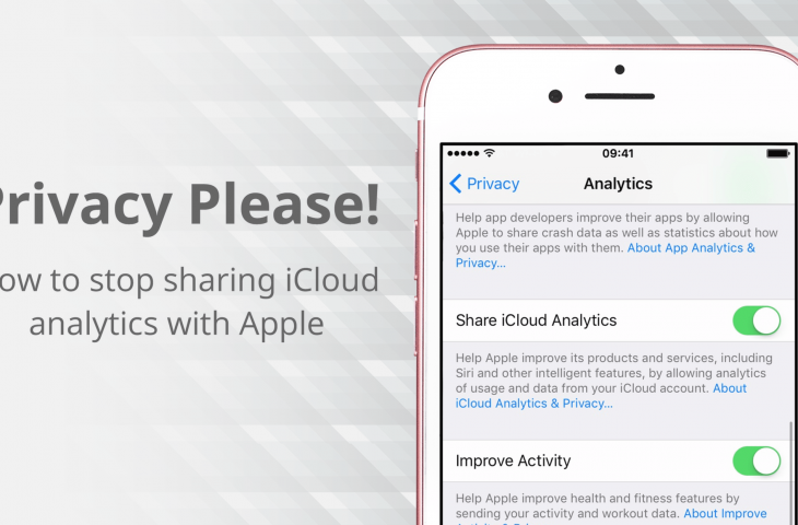 How to stop sharing iCloud analytics data with Apple
