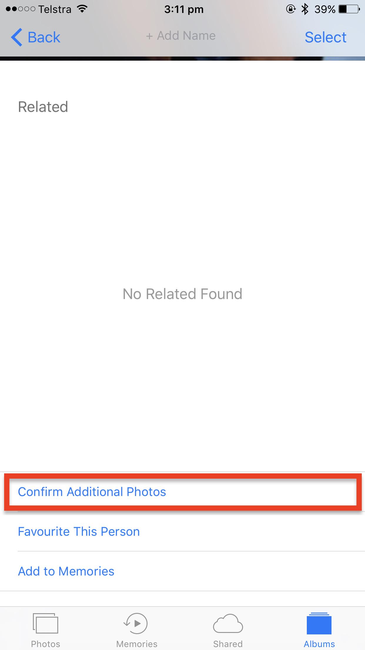 Confirm additional photos