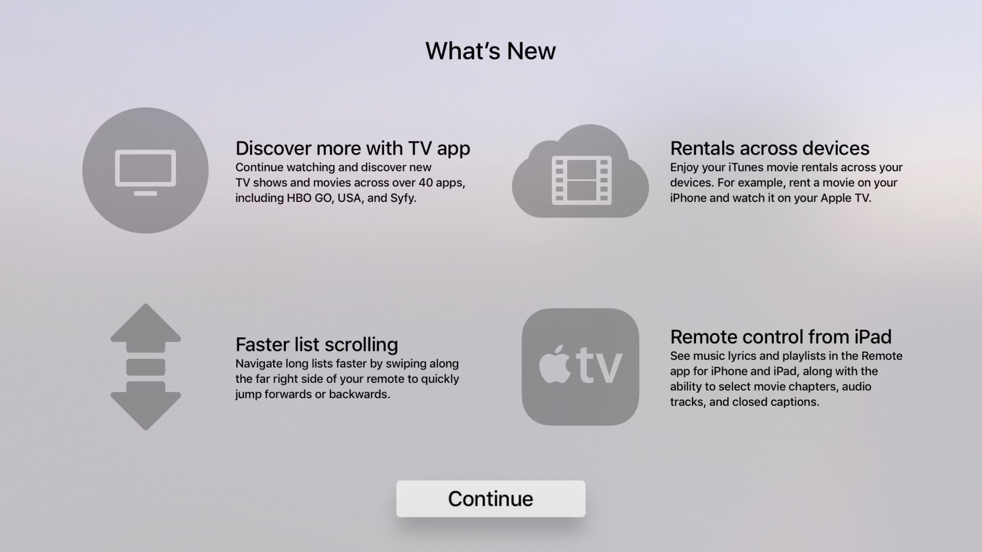 Hands-on with tvOS 10 2: fast scrolling, updated Remote app