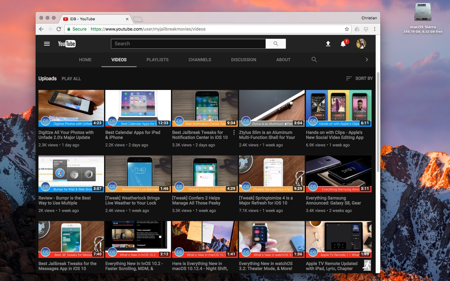 youtube dark mode