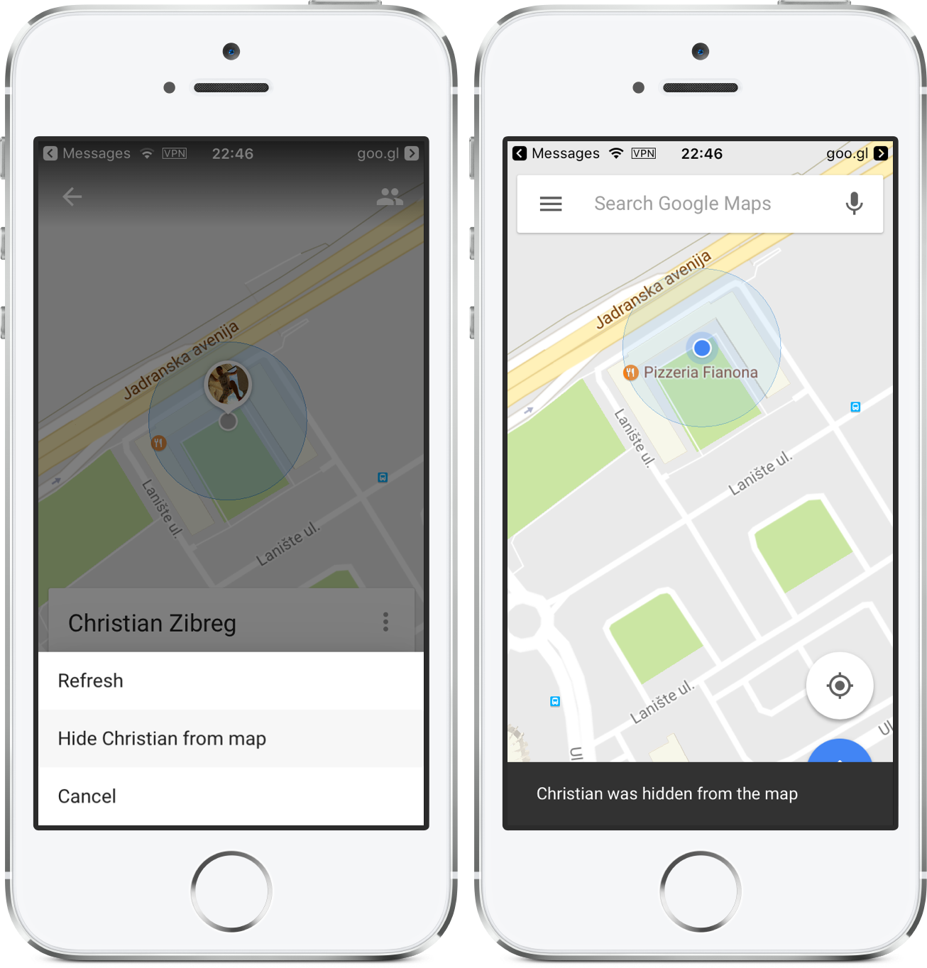 sharing location on iphone how to your real time location on maps 16115