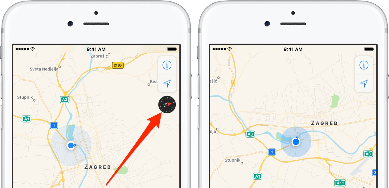 How to use your iPhone\'s compass with Apple Maps