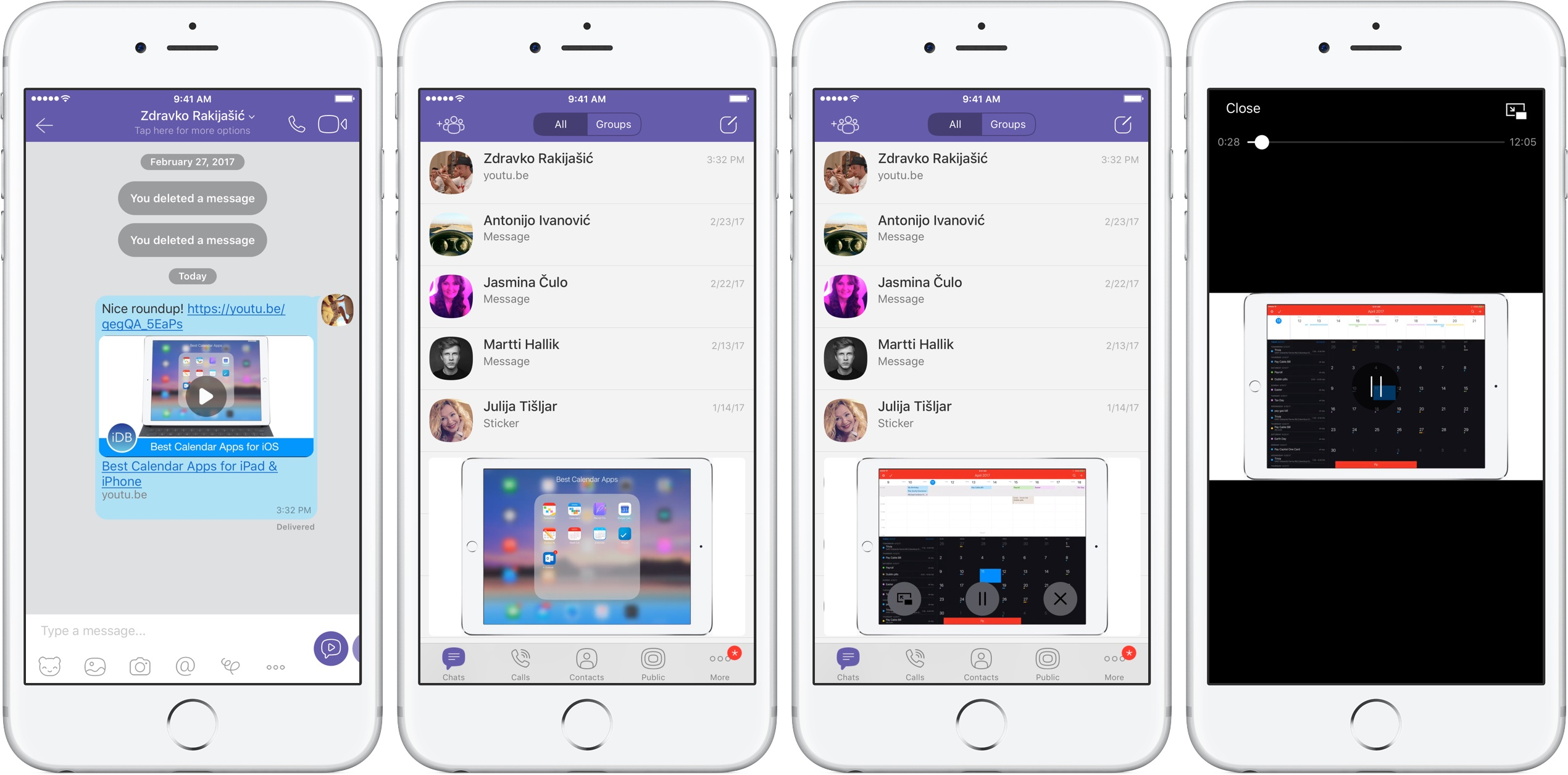 You can now watch YouTube videos while you do other things on Viber