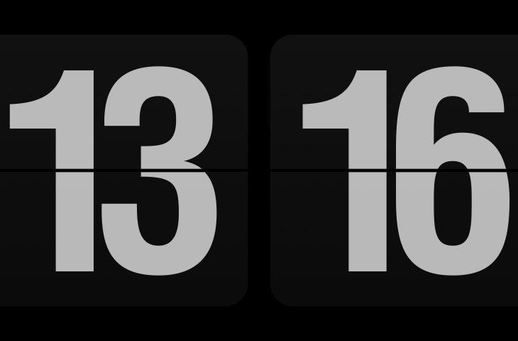 Minimalist clock screen savers for Mac