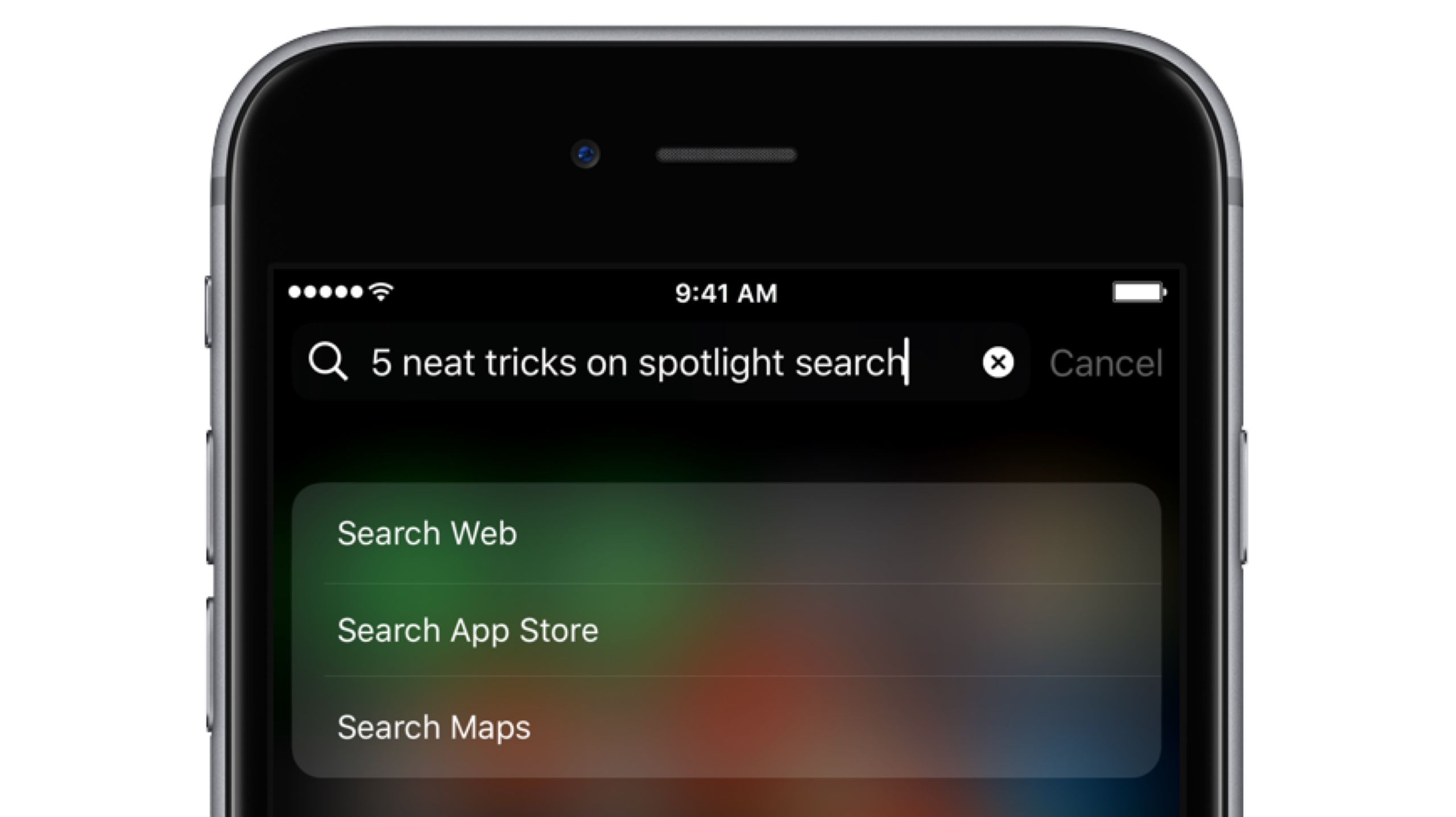 Cool Spotlight tricks on iOS