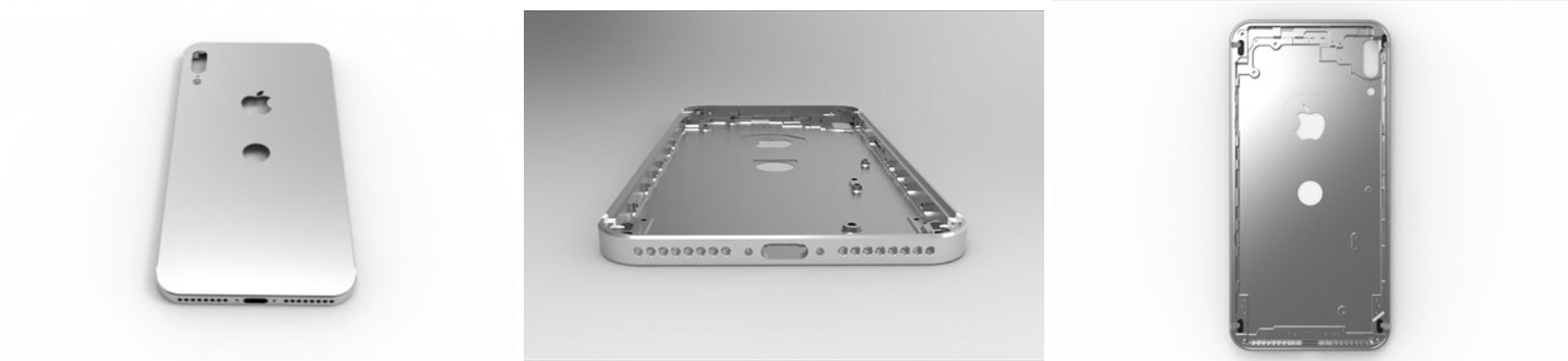 3D model of iPhone 8 casing based on likely fake schematics