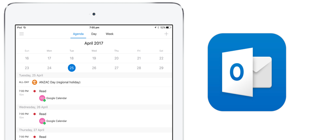 Outlook para iPad