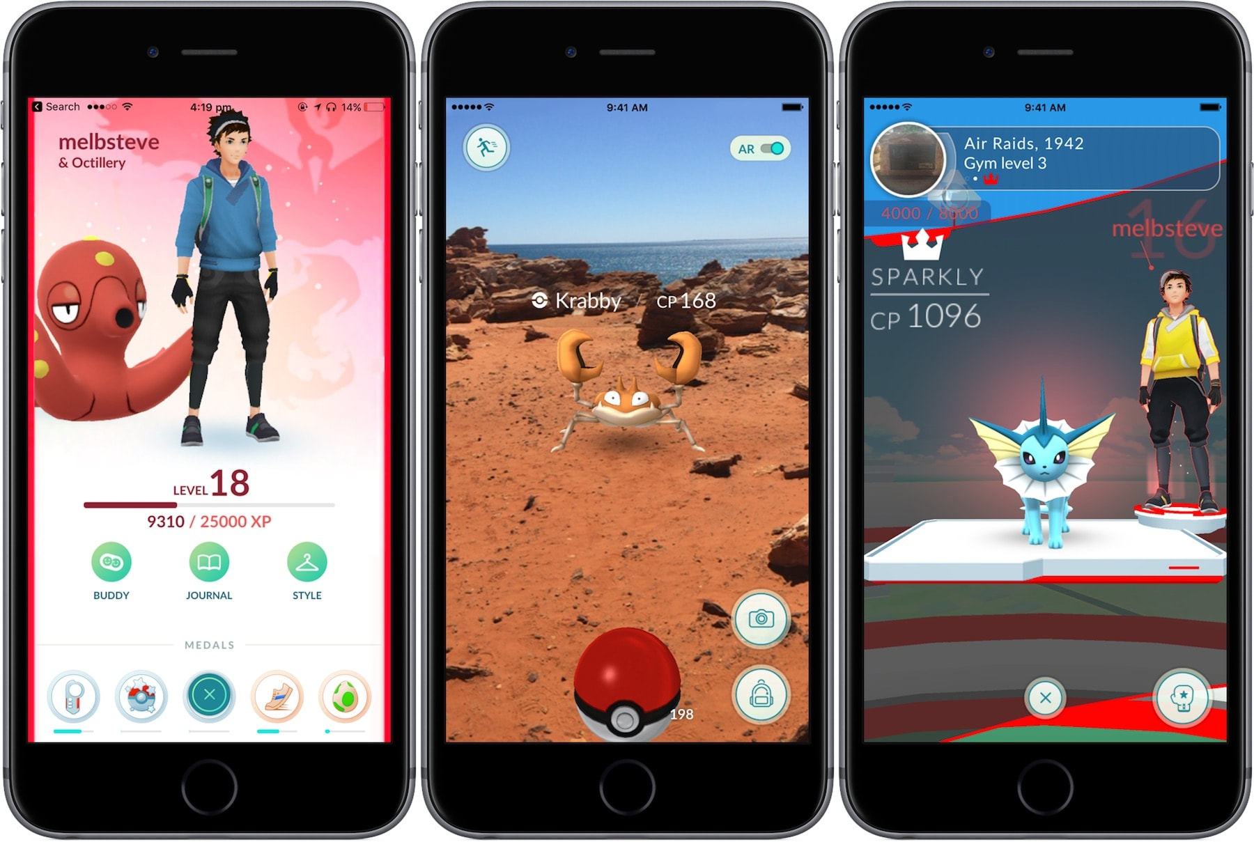 best augmented reality apps iphone - pokemon go