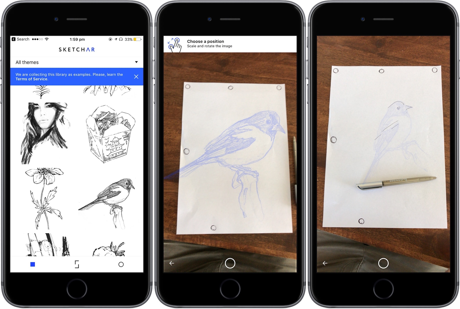 best augmented reality apps iphone - sketchar