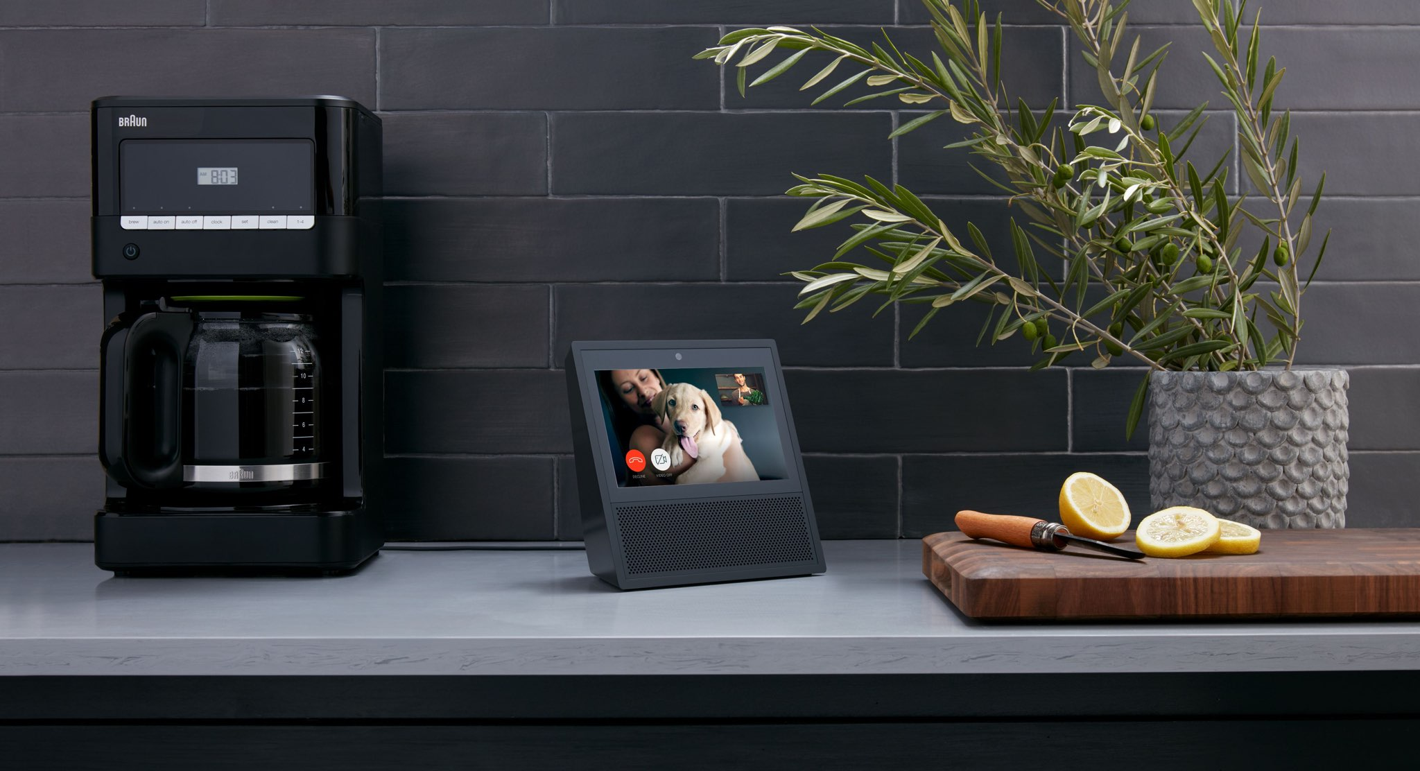 Amazon's Echo Show speaker with a built-in screen
