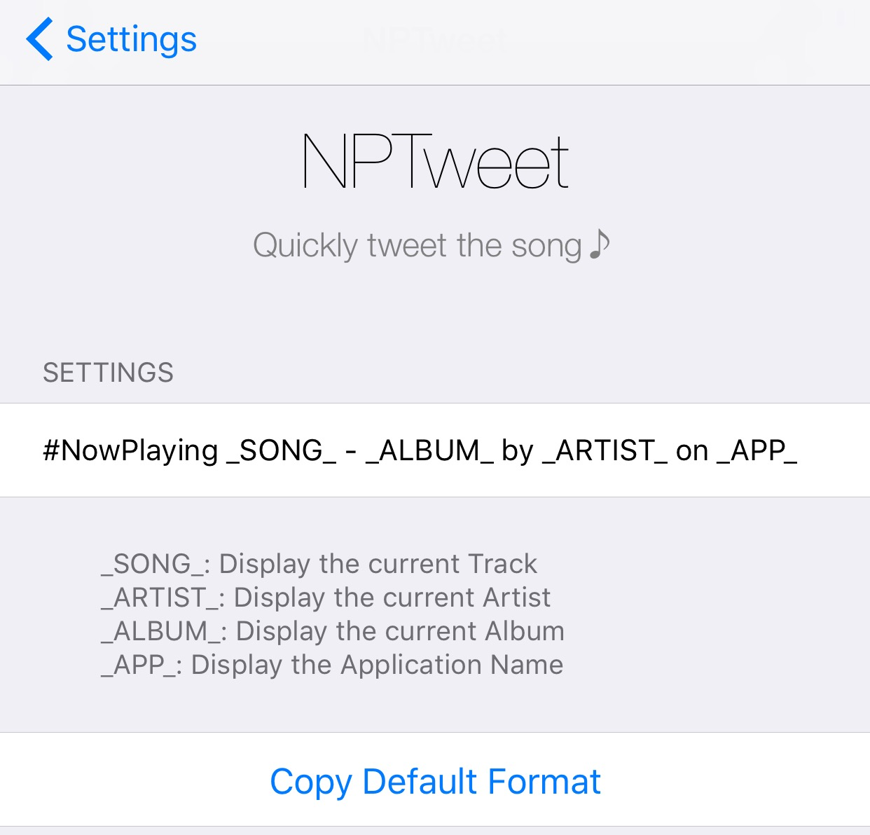 Tweet your Now Playing music from anywhere with NPTweet