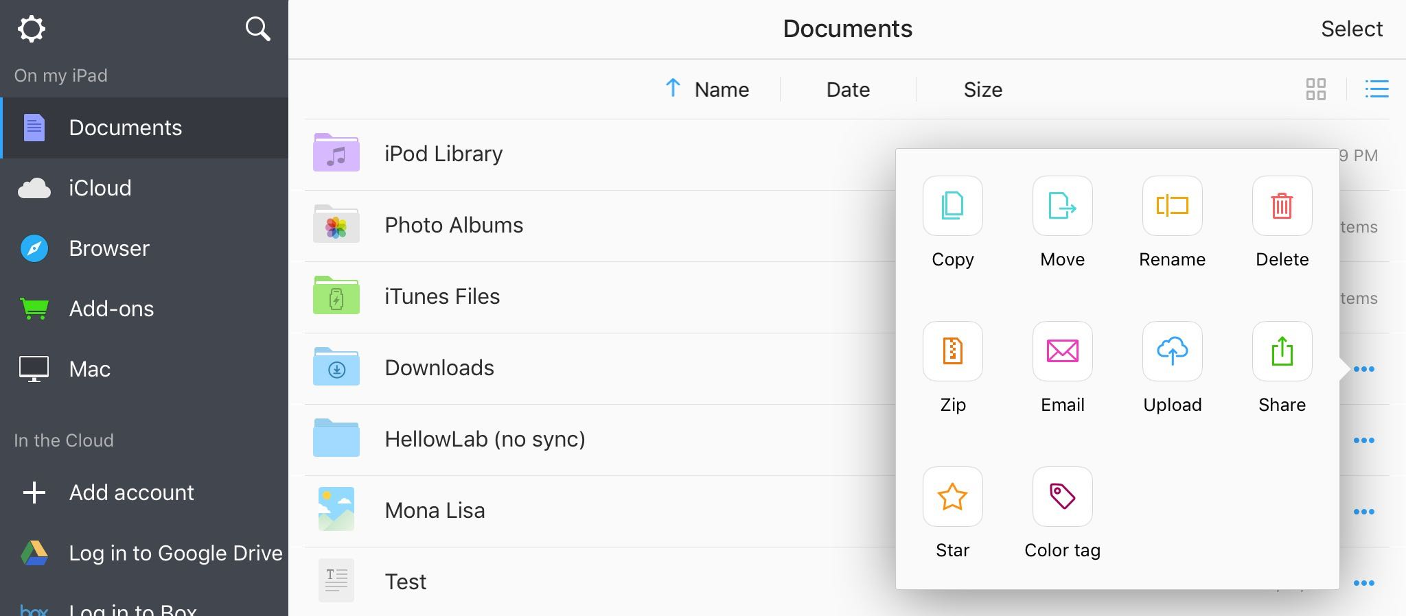 You can now drag and drop files on iPad between Readdle's