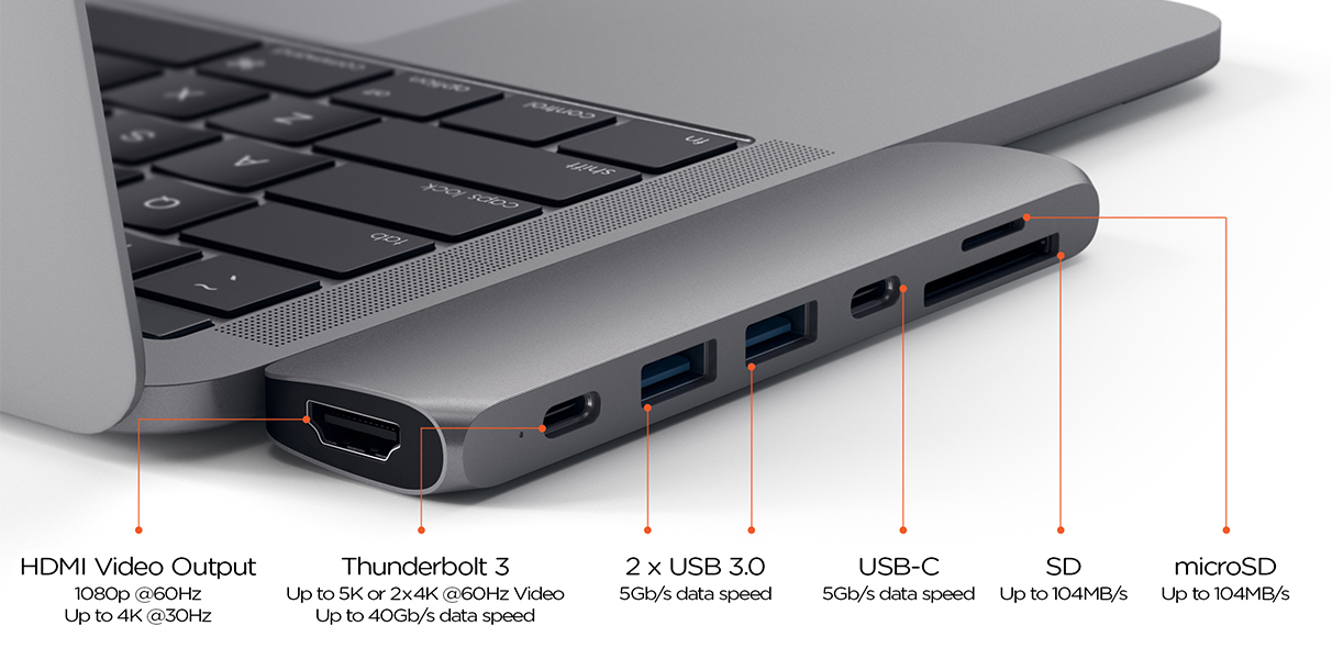 Satechi's new hub gives your MacBook Pro ports for USB, 4K ...