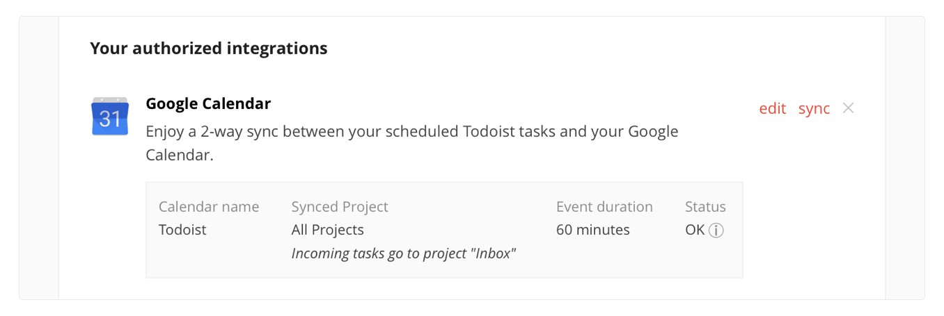 Todoist gains 2-way Google Calendar integration, Dynamic Type