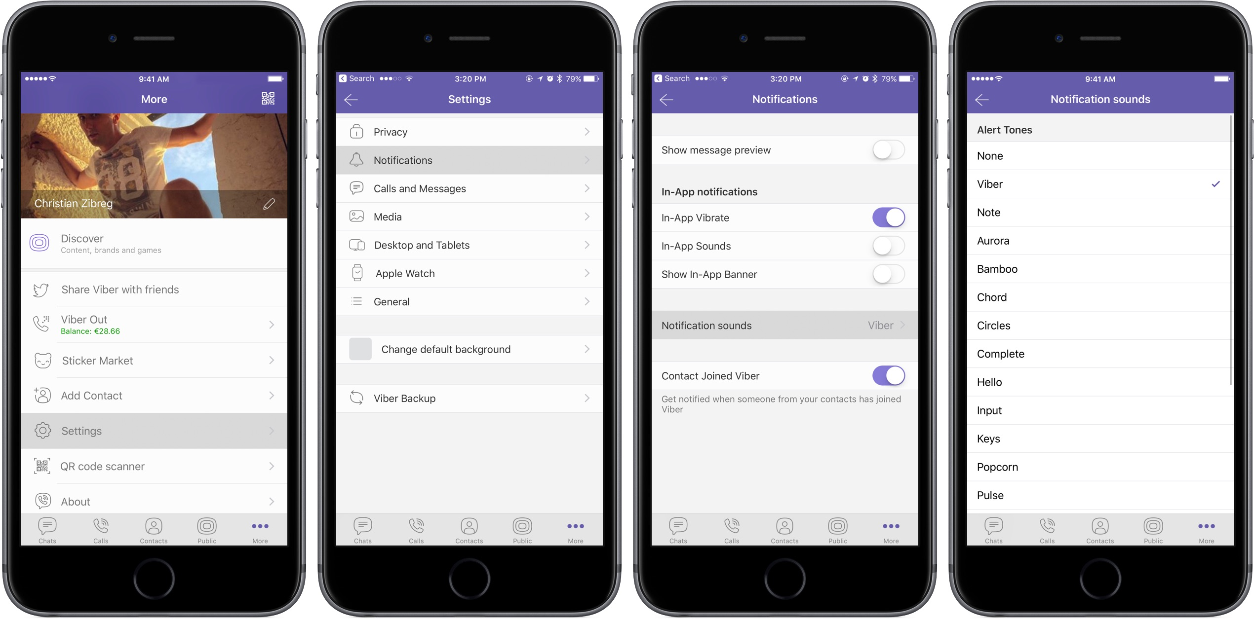How to change default notification sound in Viber for iPhone