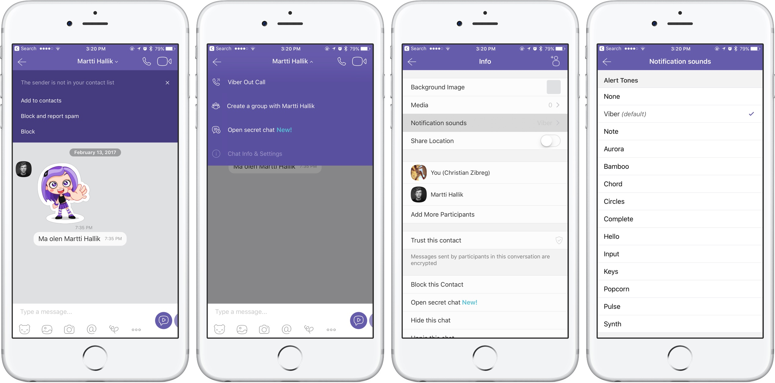 viber notification sound chats