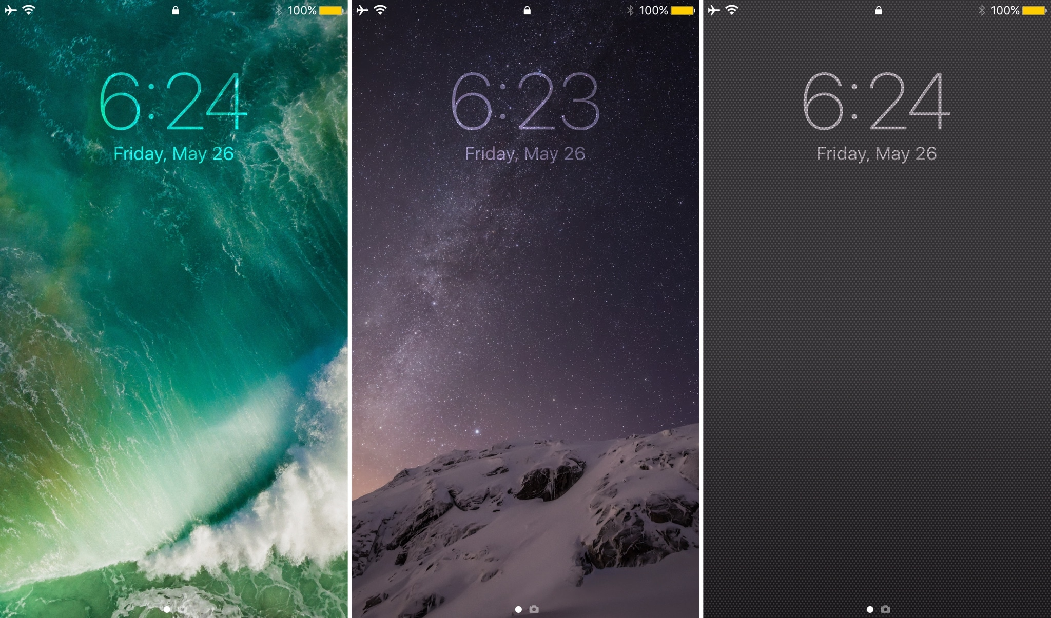 Vibrancy makes your Lock screen clock subtler