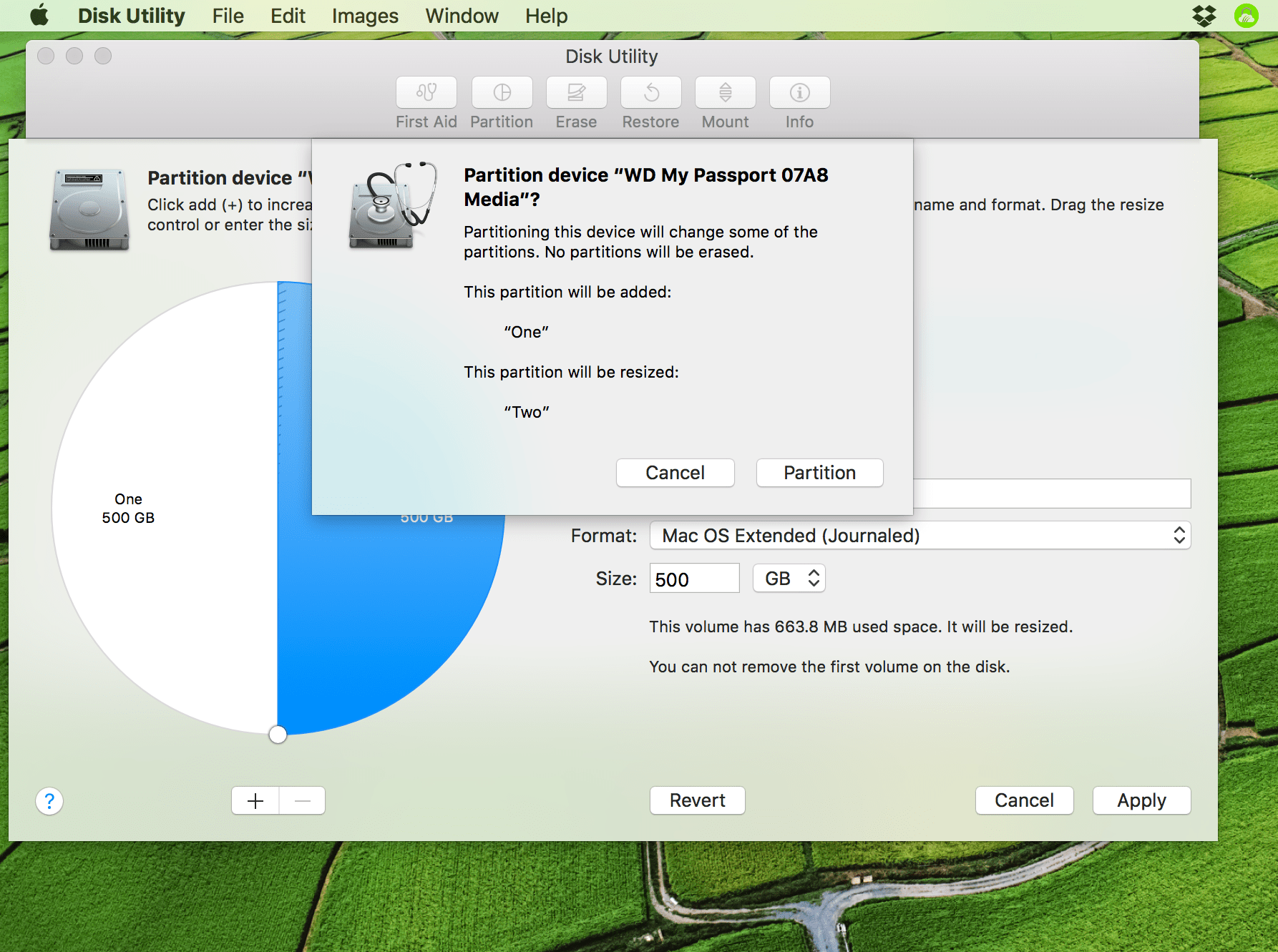 confirm disk partition mac
