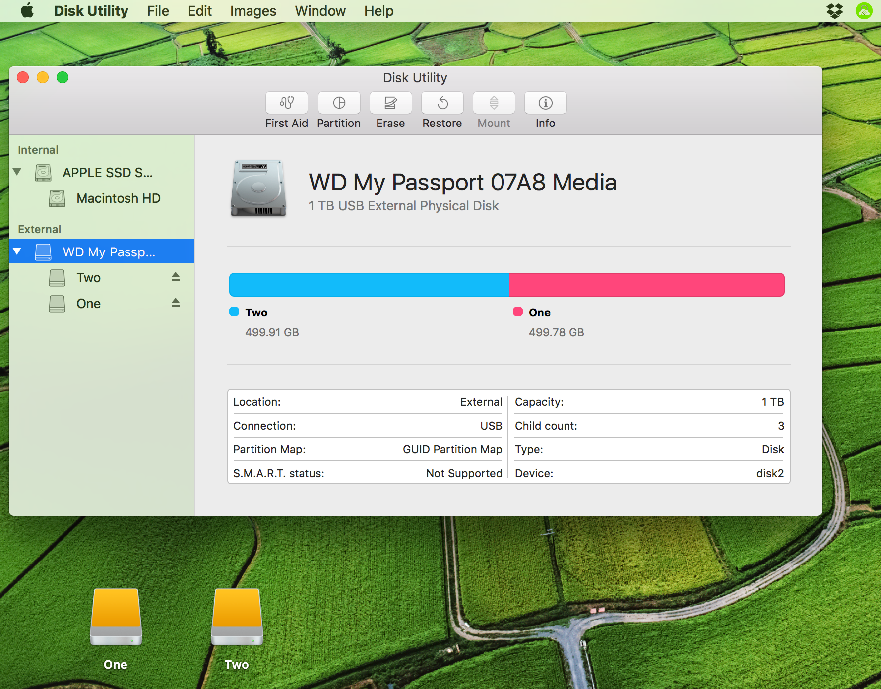 created disk partition mac