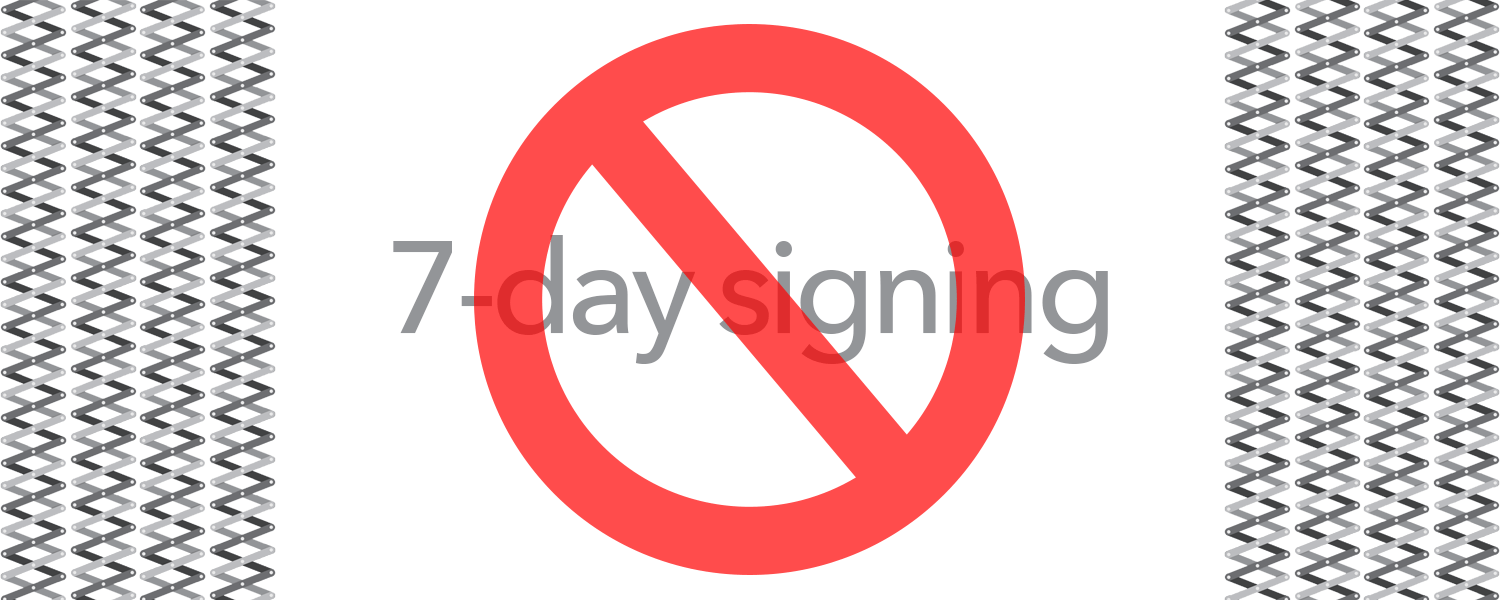 No more 7-day signing woes: use Extender Installer