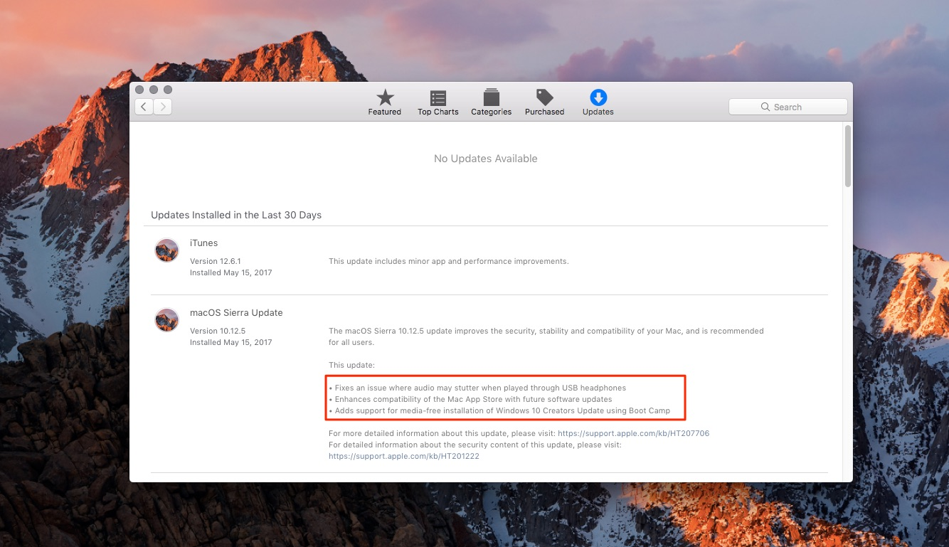 macOS 10 12 5 fixes issues with USB headphones & Windows 10, lays