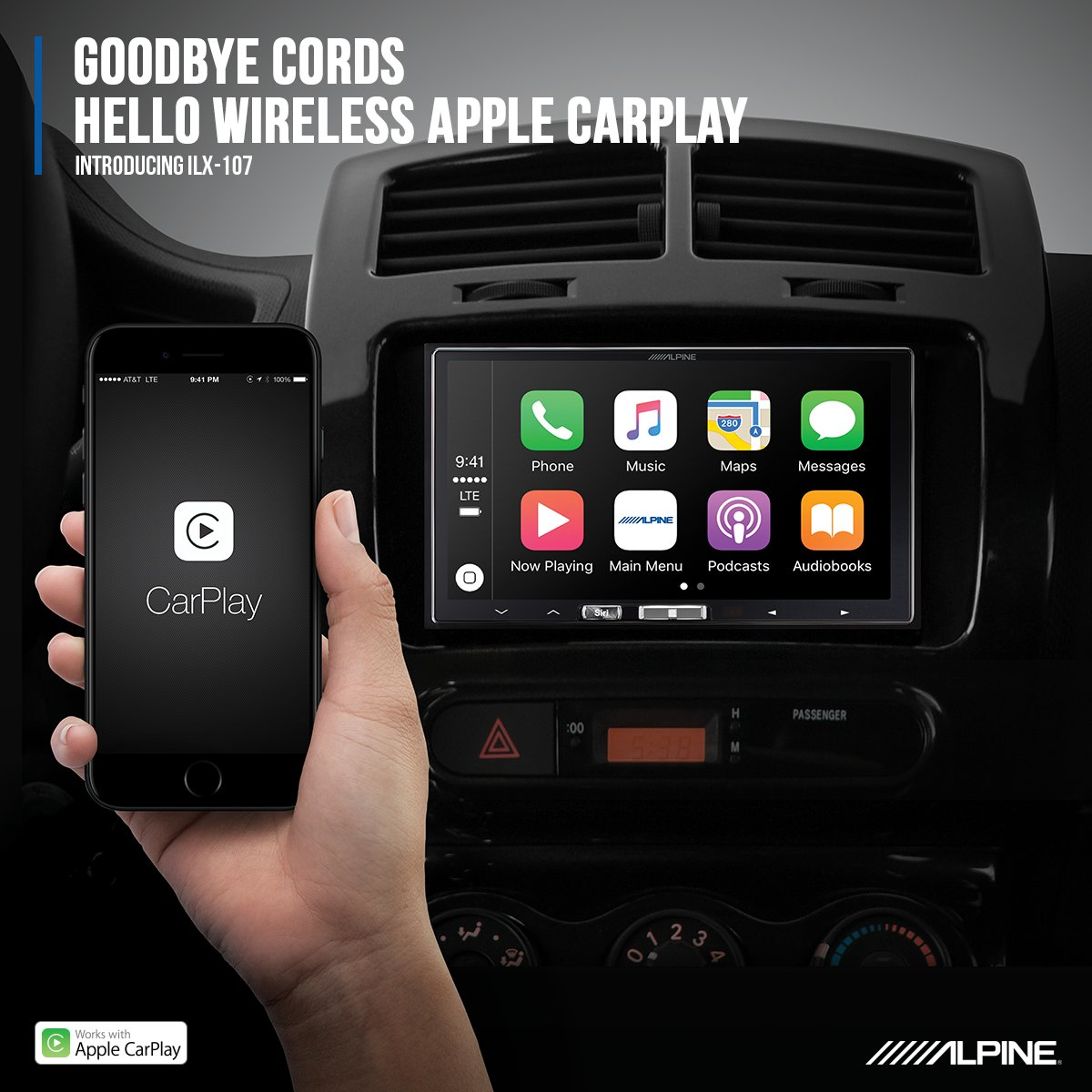 first aftermarket carplay wireless receiver from alpine. Black Bedroom Furniture Sets. Home Design Ideas