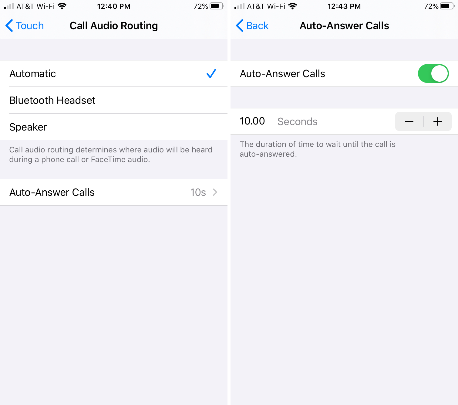 Auto Answer Calls iPhone