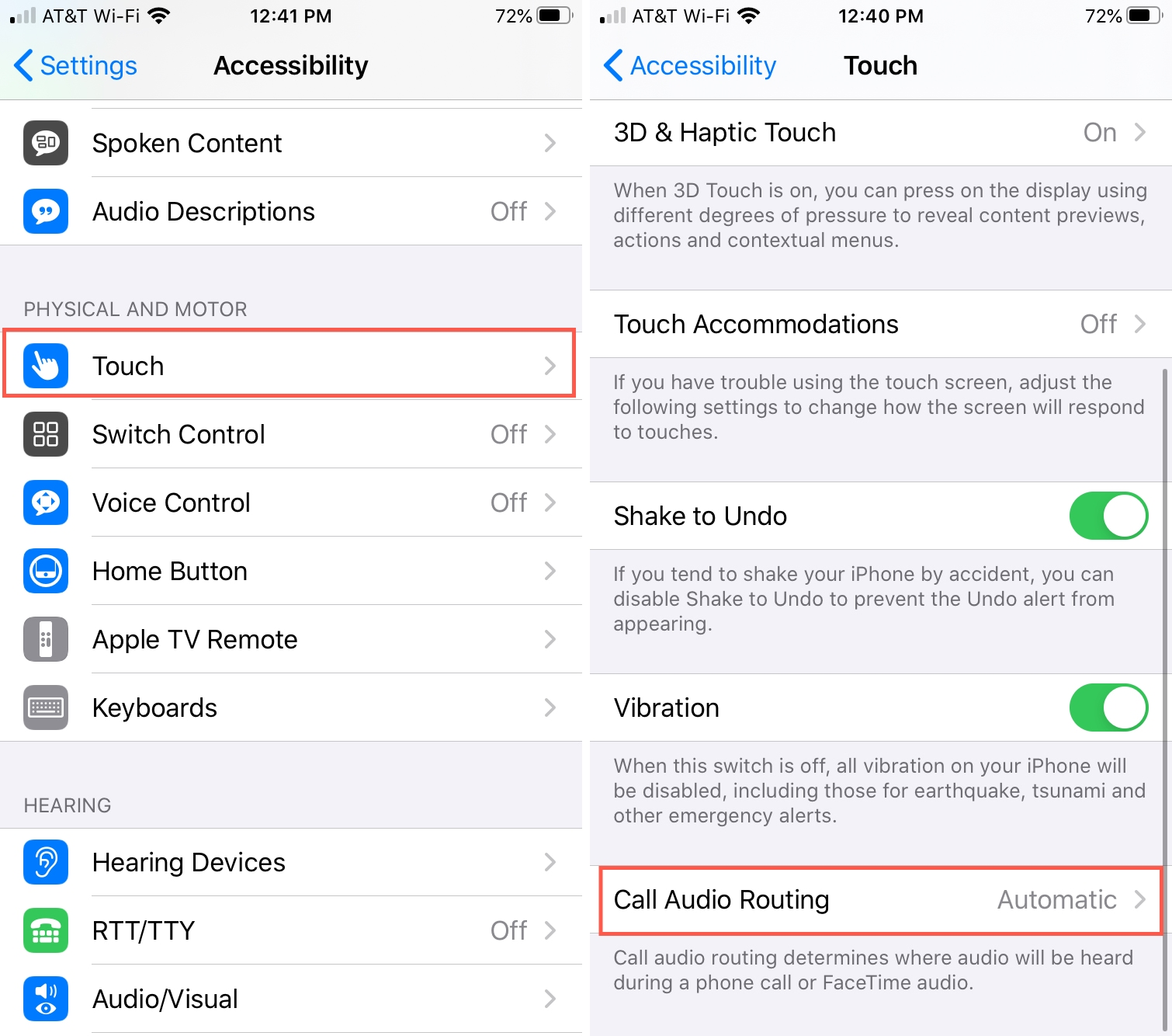 Call Audio Routing iPhone