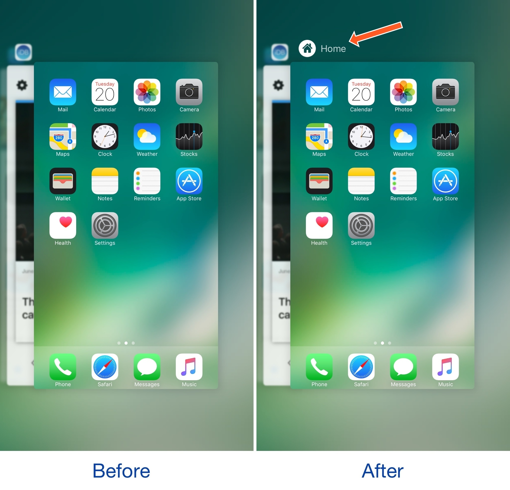 This Tweak Makes The App Switcher's Home Screen Card More