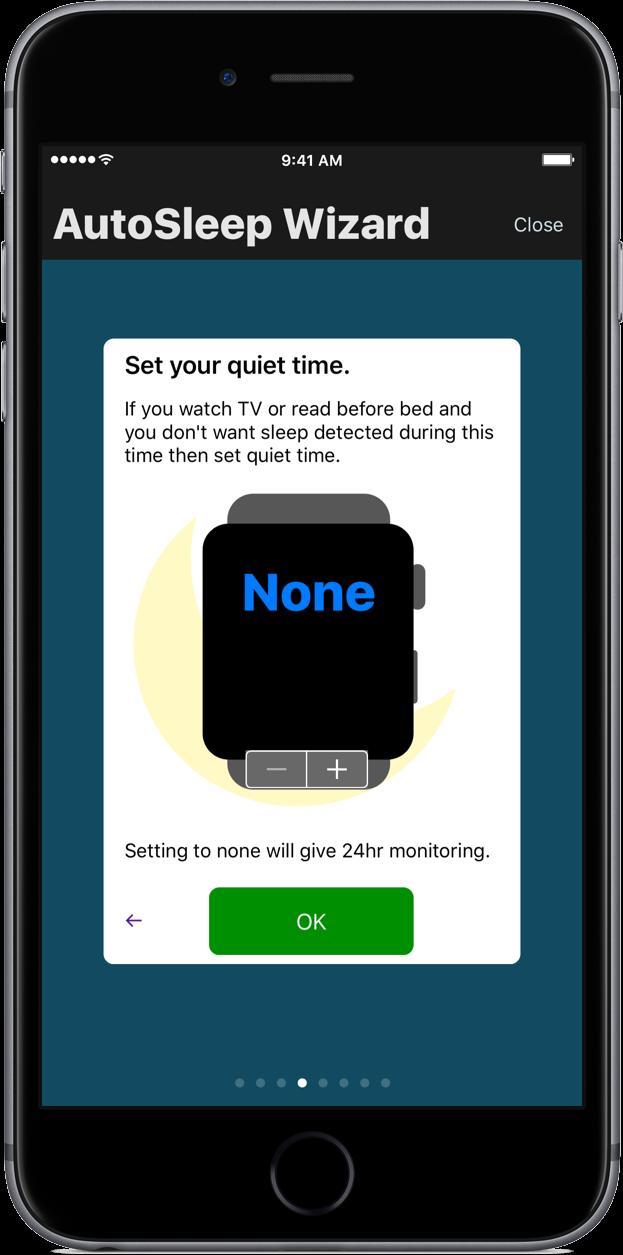 track sleep iphone - autosleep wizard quiet time