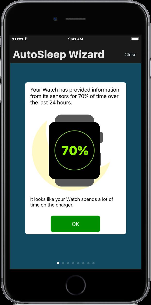 autosleep wizard watch sensors