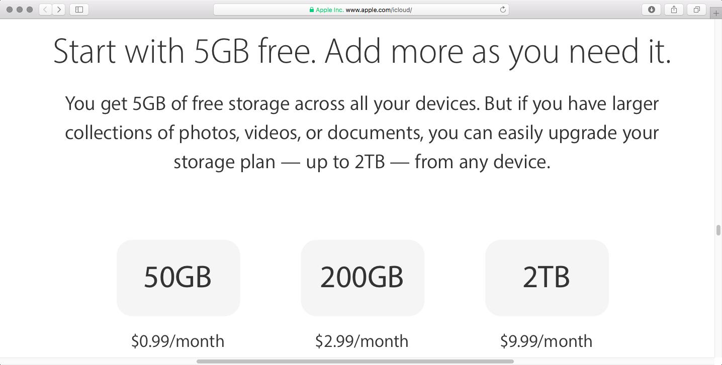 iCloud-cost