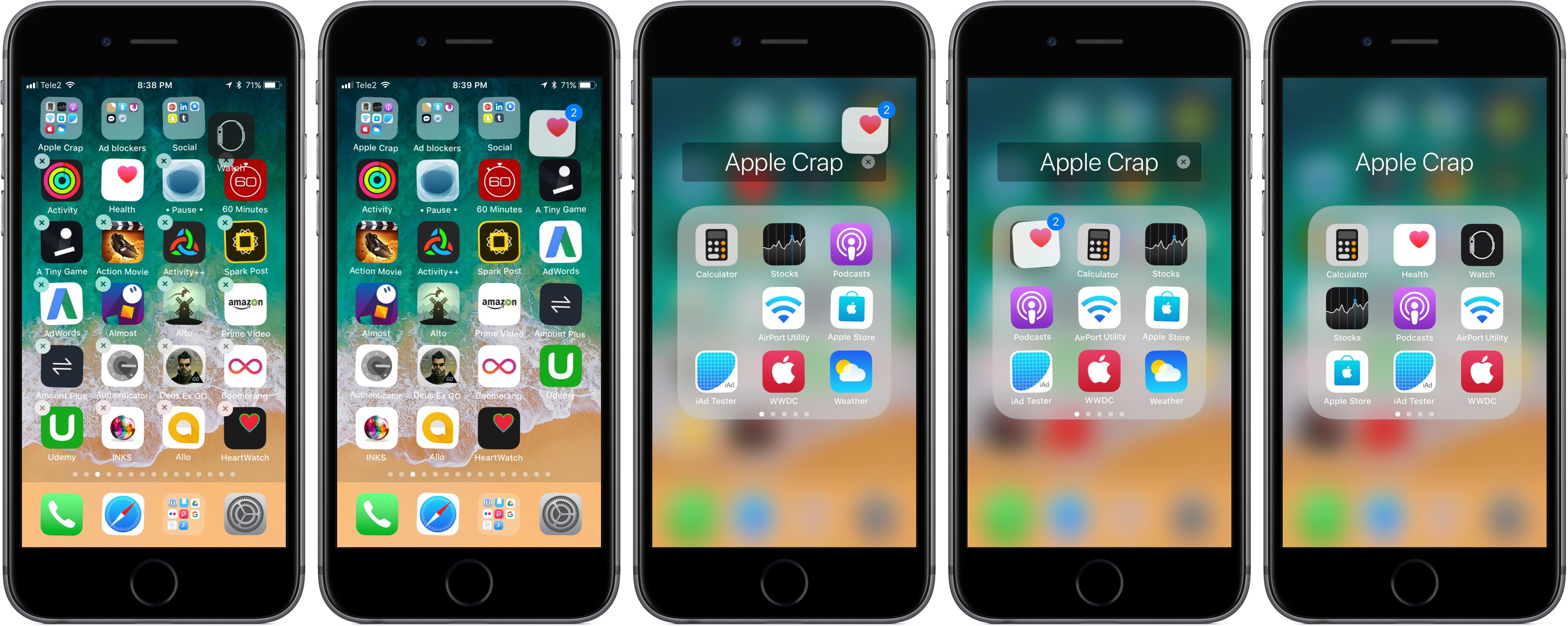 move multiple apps iphone and ipad into folders