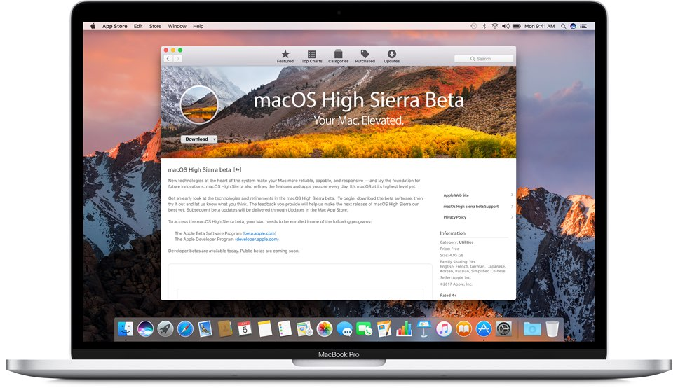 Third public beta of macOS High Sierra drops