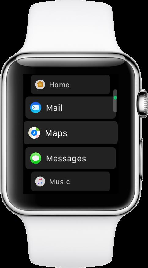 vista de lista de vigilancia de apple