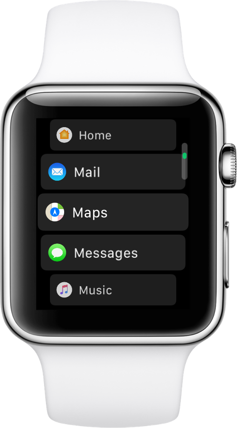 apple watch list view