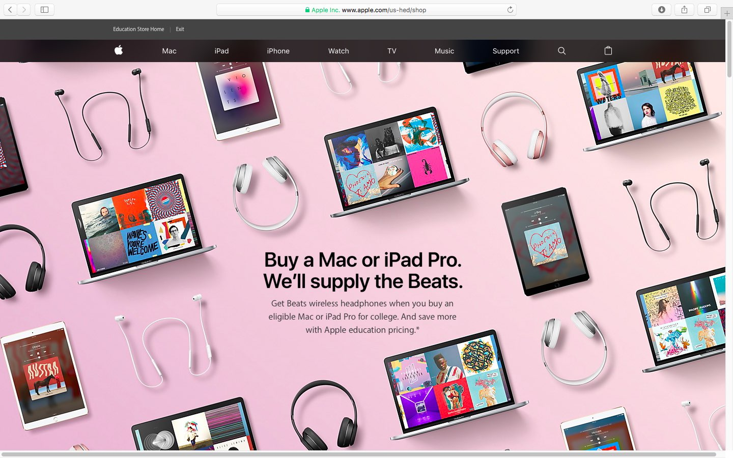 Apple unveils 2017 Back to School deals: free Beats with
