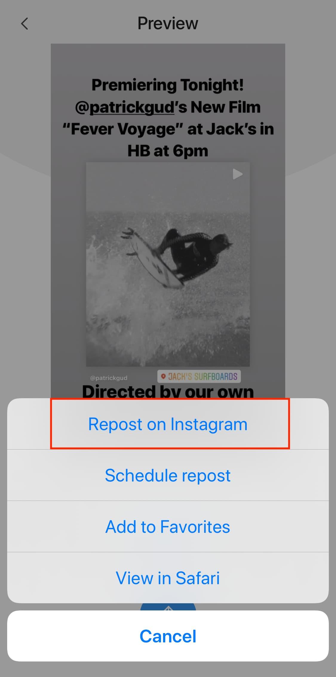 Descargar historia de instagram