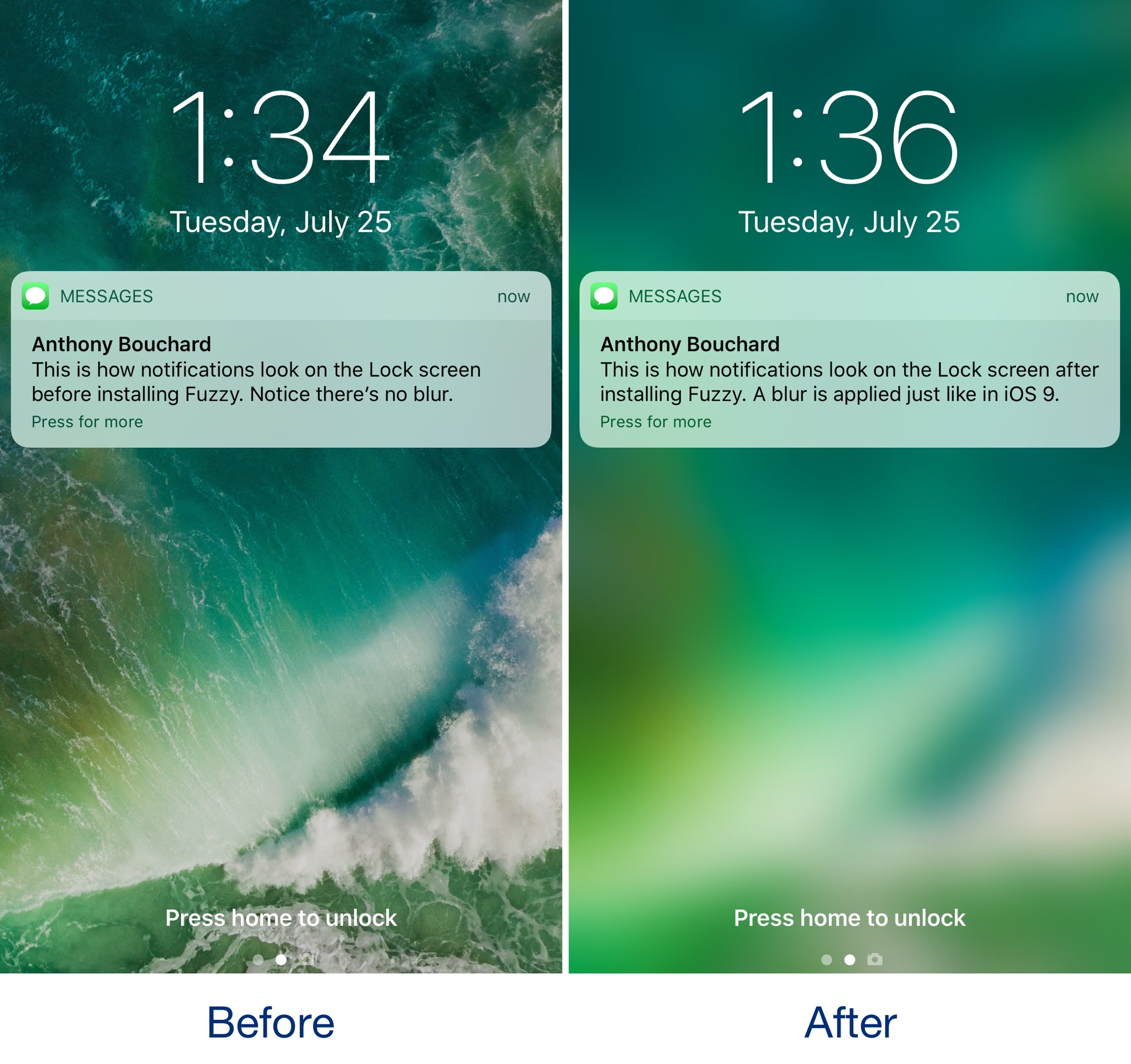 IOS 10 Changed How Incoming Notifications Looked On The Lock Screen By Doing Away With Background Blur That Appeared Behind Banners And Adding Those