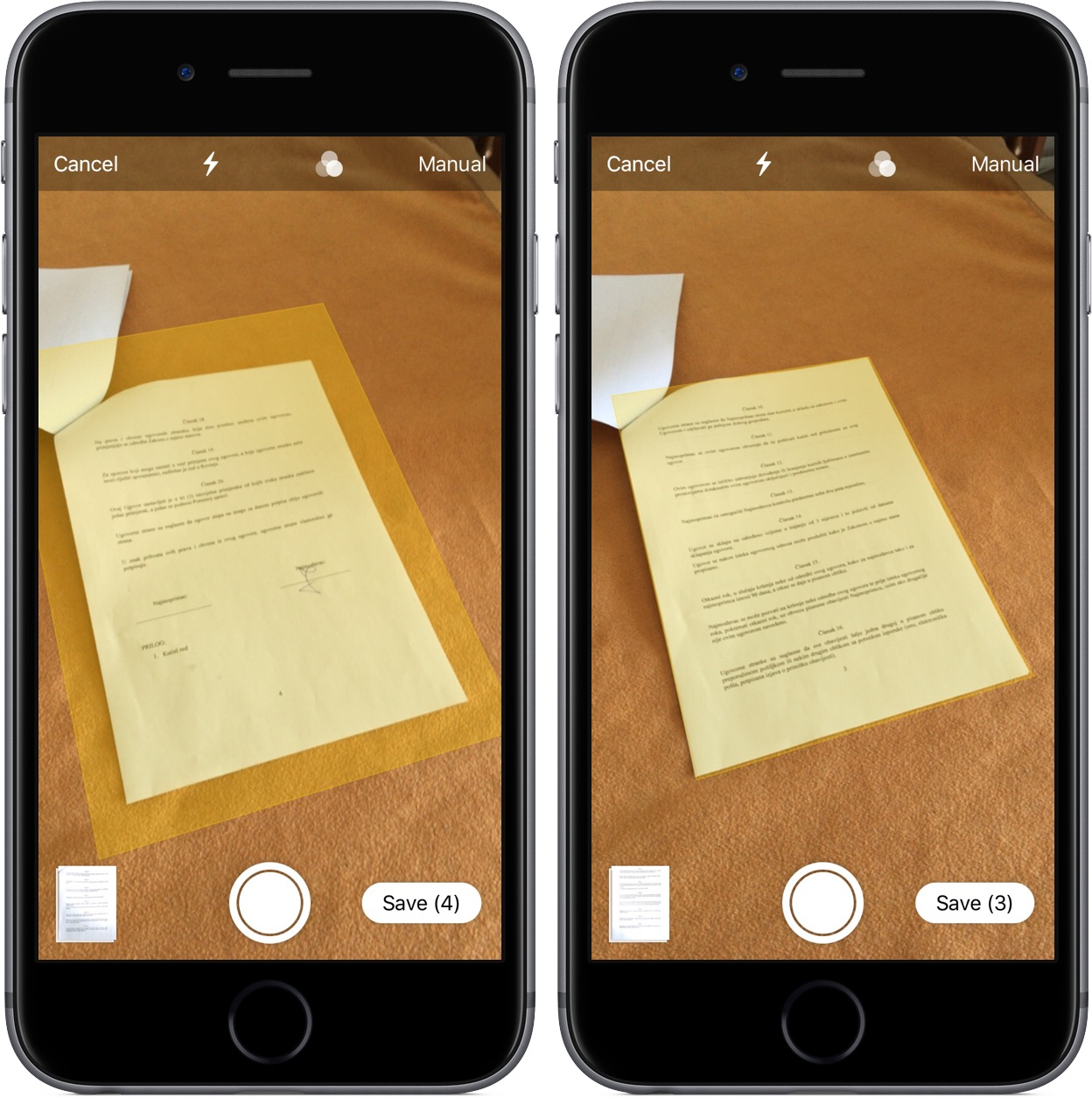 How to scan documents in the Notes app