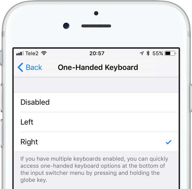 one-handed keyboard iphone