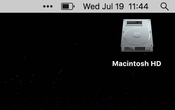 How to remove the Macintosh HD icon from the desktop on Mac