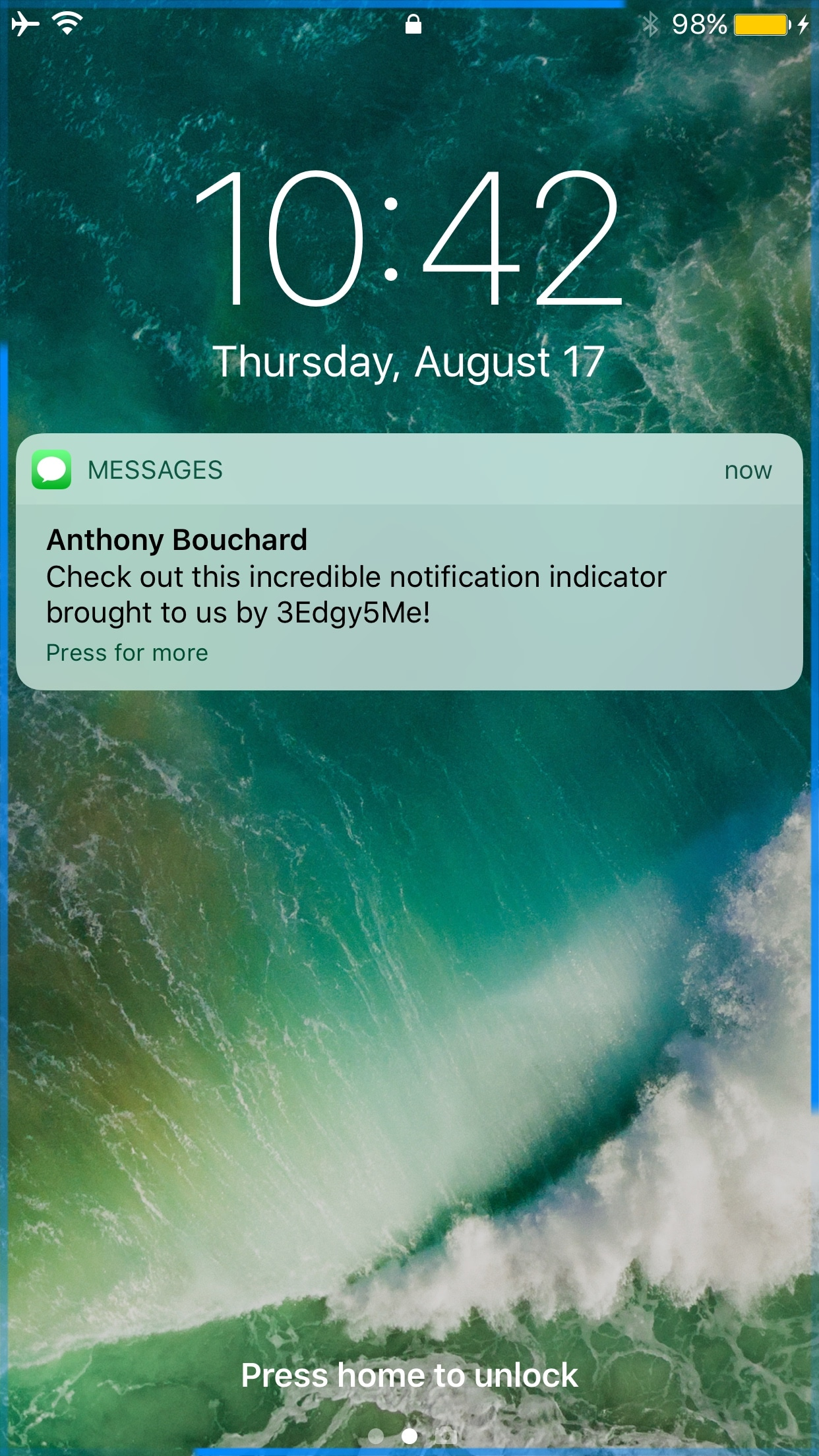 3Edgy5Me brings Galaxy S8-inspired notification animations to the iPhone