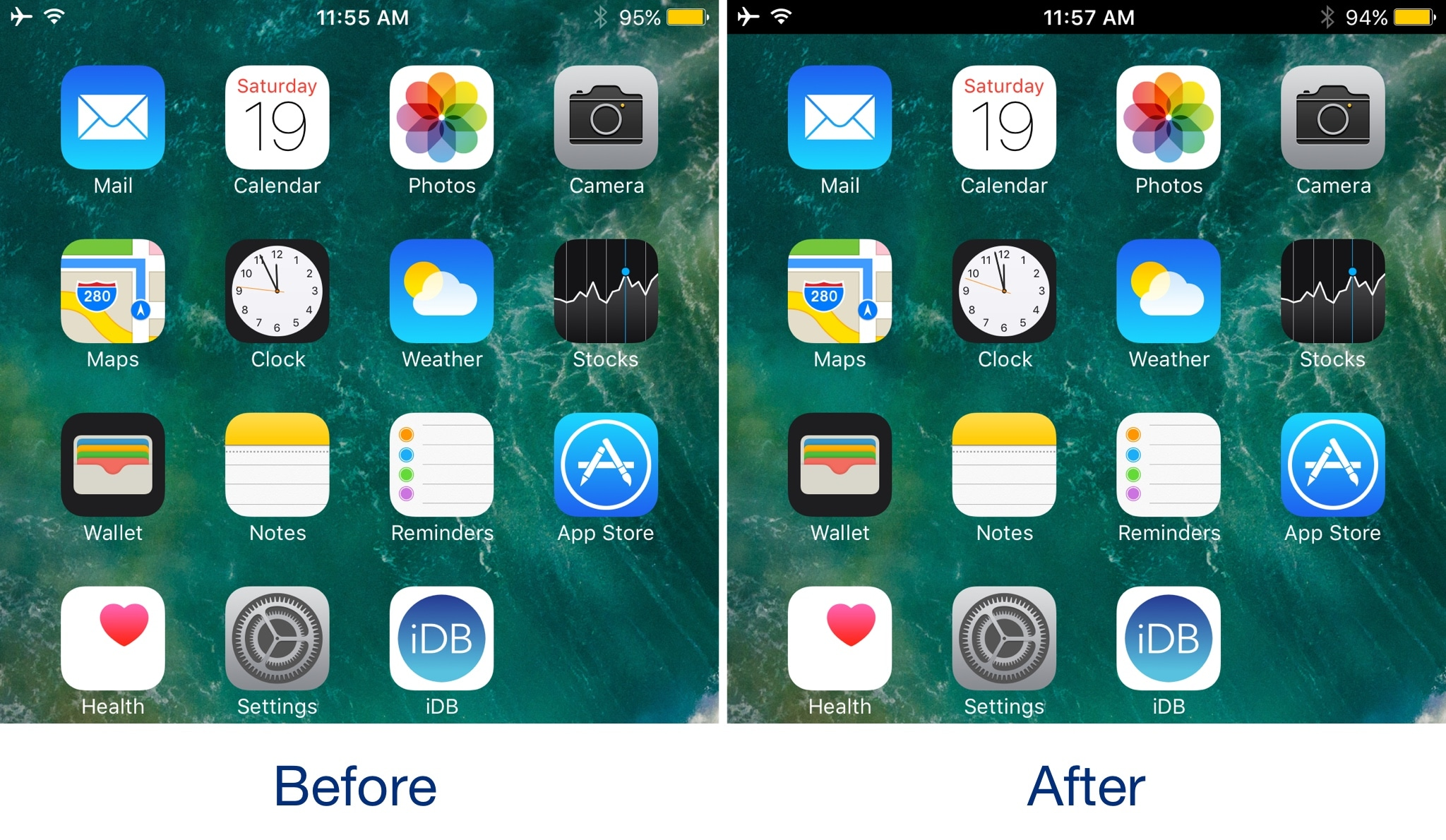 Back in the day the status bar never used to be the same color as the background behind it things changed drastically after the major ios 7 redesign and
