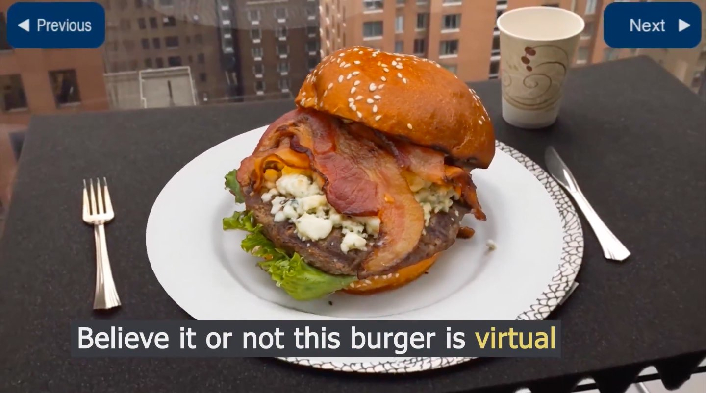 Food ordering with ARKit: believe it or not, this burger is virtual