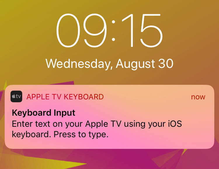 How to stop the Apple TV remote keyboard from popping up on