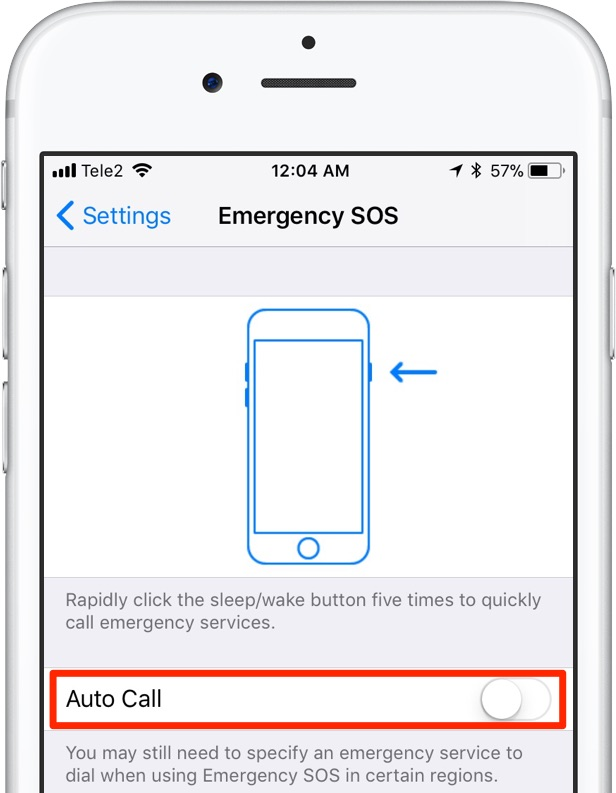 disable touch id - autocall